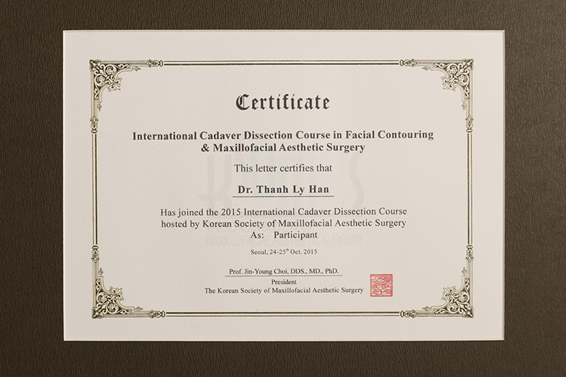 Has joined the 2015 International Cadaver Dissection Course hosted by Korean Society of Maxilofacial Aesthetic Surgery của PHÒNG KHÁM CHUYÊN KHOA RĂNG HÀM MẶT DR.LEE